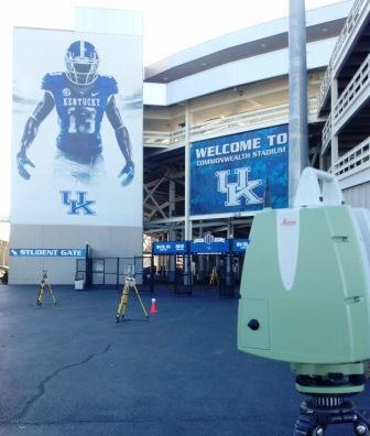 Laser Scanning University of Kentucky's Commonwealth Stadium