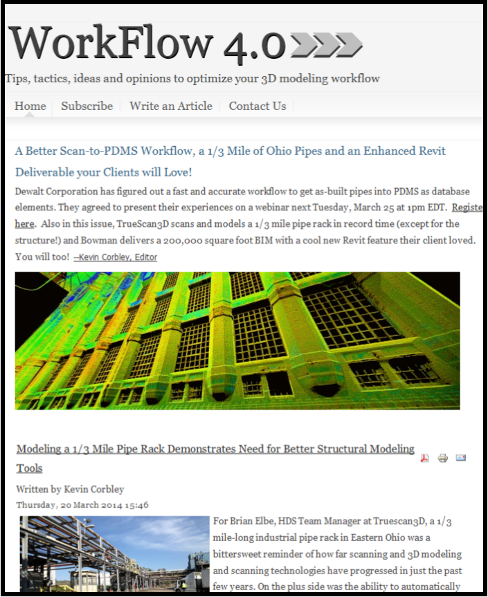 Truescan3D Article in Workflow 4.0 Blog