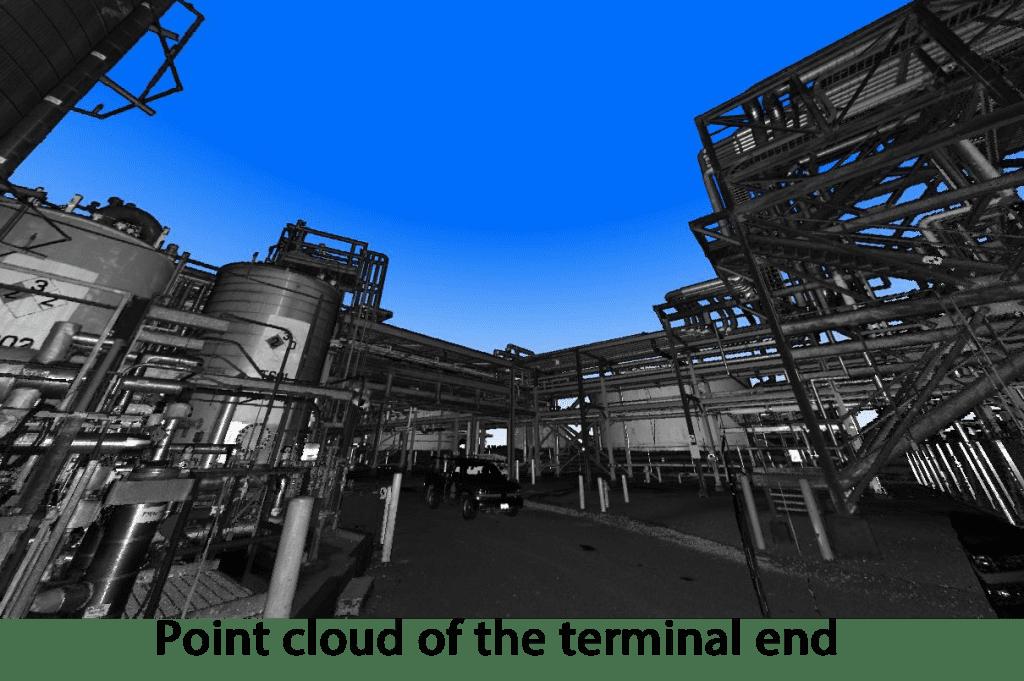 industrial piping rack model