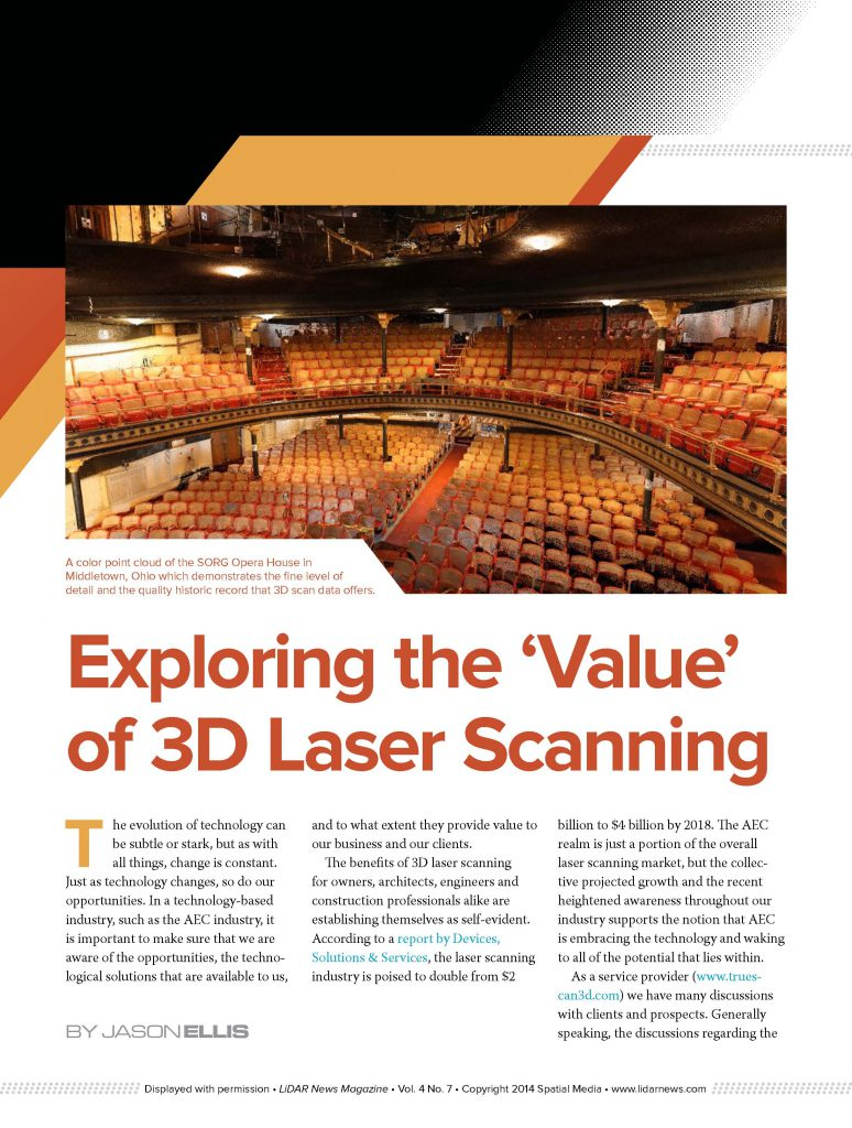 Truescan3D Laser Scannng LiDAR News Article